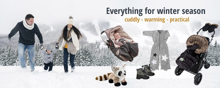Everything for the winter Cuddly-warming-practical can be found at KidsComfort.eu